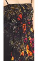 Jean Paul Gaultier Sleeveless Printed Maxi Dress Black - Lyst