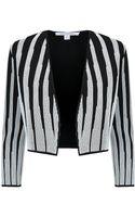 Diane Von Furstenberg Deborah Striped Cropped Jacket - Lyst