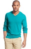 Tommy Hilfiger Solid V Neck Sweater - Lyst