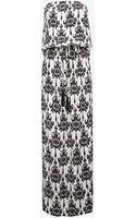 Marie France Van Damme Strapless Leopard Print Maxi Dress - Lyst