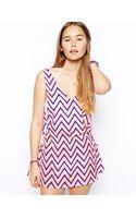 Asos Chevron Tie Side Beach Dress - Lyst