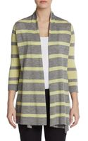 Autumn Cashmere Striped Cashmere Openfront Cardigan - Lyst