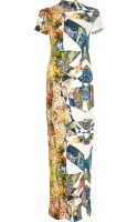 River Island Yellow Graphic Print Split Front Maxi Dress - Lyst