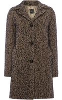 Max Mara Malia 3 Button Tweed Coat with Belted Back - Lyst