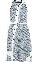 Derek Lam Asymmetric Printed Silk Dress - Lyst