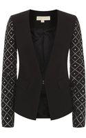 Michael by Michael Kors Studded Sleeve Jacket - Lyst