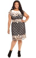 American Rag Plus Size Cap Sleeve Lace Floral Print Dress - Lyst