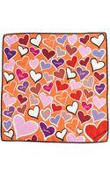 Anna Coroneo Heartsprint Small Square Scarf - Lyst