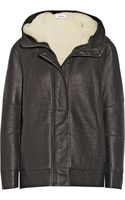 Helmut Lang Hooded Shearlinglined Leather Jacket - Lyst