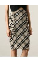 Ungaro Vintage Checked Pencil Skirt - Lyst