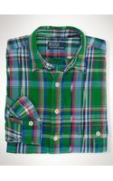 Polo Ralph Lauren Classic Plaid Military Shirt - Lyst