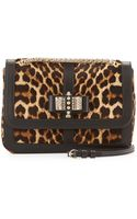 Christian Louboutin Sweet Charity Small Calf Hair Shoulder Bag Leopard - Lyst