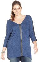 Jessica Simpson Plus Size Three Quarter Sleeve Knit Top - Lyst