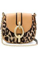 Diane Von Furstenberg Sutra Mini Leopard Jacquard Crossbody Bag - Lyst