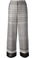 Missoni Wide Leg Trouser - Lyst