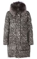 Moncler Gamme Rouge Leopard Print Padded Coat - Lyst