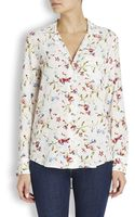 Equipment Keira Floral Print Washed Silk Blouse - Lyst