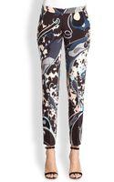 Emilio Pucci Printed Silk Trousers - Lyst