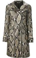 Diane Von Furstenberg Python Print Coat - Lyst