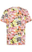 Jil Sander Graphic Floral Print Tshirt - Lyst