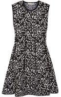Antonio Berardi Leopard-intarsia Stretch-knit Mini Dress - Lyst