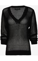 Rag & Bone Connie Open Weave V Neck Sweater - Lyst