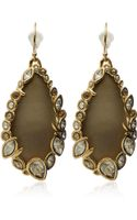 Alexis Bittar Gold Crystal Imperial Lace Earrings - Lyst