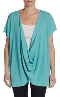 Josie Natori Melange Knit Silk Cotton Pullover - Lyst