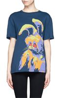 McQ by Alexander McQueen Angry Bunny Print Tshirt - Lyst