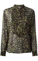 Etoile Isabel Marant Leopard Print Blouse - Lyst
