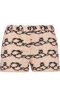 Diane Von Furstenberg Charlie Lace Shorts - Lyst