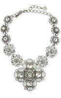 Oscar de la Renta Classic Bold Crystal Necklace - Lyst