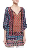 Tolani Courtney Silk Long Tunic - Lyst