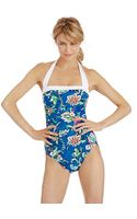 Lauren by Ralph Lauren Batik Floral Bel Aire One Piece Swimsuit - Lyst