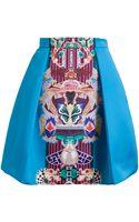 Mary Katrantzou Totem Print Pleated Skirt - Lyst