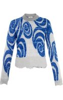Acne Studios Gaze Psychedelic-jacquard Sweater - Lyst