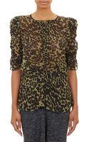Etoile Isabel Marant Leopardprint Voile Caja Top - Lyst