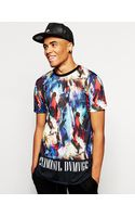 Criminal Damage T-shirt in Abstract Print - Lyst