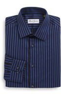 Robert Graham Regular-fit Herringbone Stripe Cotton Dress Shirt - Lyst