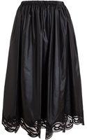 Christopher Kane Lace Hem Nylon Midi Skirt - Lyst