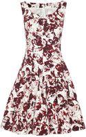 Oscar de la Renta Printed Cotton Blend Dress - Lyst