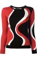 Alexander McQueen Wavy Intarsia Sweater - Lyst
