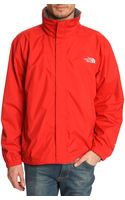The North Face Resolve Red Waterproof Jacket - Lyst