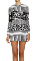 Balenciaga Dress Jersey Long Sleeve Round Neck Ski Scarf Jaquard - Lyst
