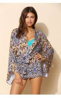 Mink Pink Animal Flame Kimono Cover Up - Lyst