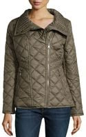 Marc New York By Andrew Marc Farrah Quilted Moto Jacket Loden Xl - Lyst