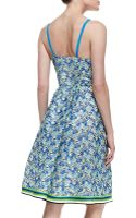 Tracy Reese Sleeveless Multicolor Pique Dress - Lyst