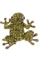 Jones New York Goldtone Green Frog Pin - Lyst