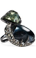 Alexis Bittar Stacked Hematite Cocktail Ring - Lyst