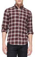 7 For All Mankind Plaid Buttondown Shirt - Lyst